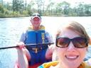 Jen's 1st kayak ride
